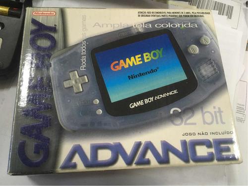 Gameboy Advance Glacial Caixa, Manuais E Jogos Gradiente Gba