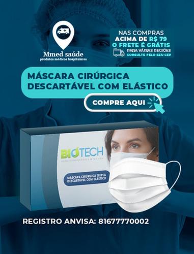 Caixa De Mascaras  Descartáveis Tripla 50 Unidades Biotech