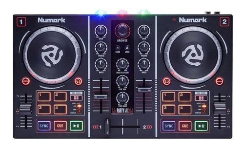 Controlador Dj Numark Party Mix Negro De 2 Canales