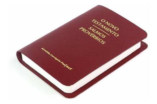 Novo Testamento Acf De Bolso Com  Salmos E Provérbios