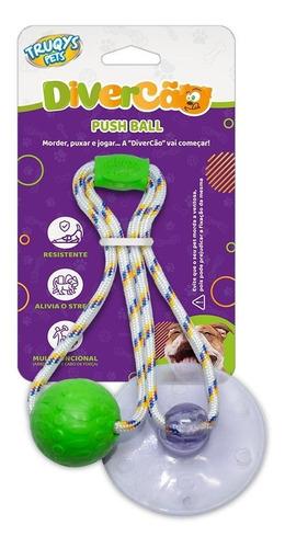 Brinquedo Para Cachorro Push Ball Truqys Pet Cães Ventosa