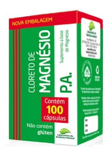 Cloruro De Magnésio P,a 100 Capsulas
