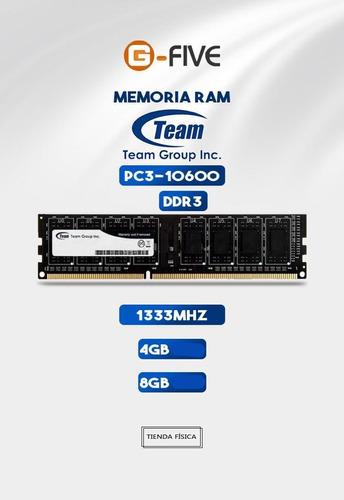 Memoria Ram Ddr3 4gb Team Group 1333mhz