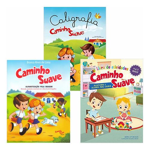 Kit Cartilha Caminho Suave + Livro Atividades + Caligrafia