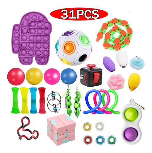 Brinquedos Sensoriais Pop It Push Fidget 31pcs
