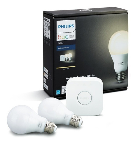 Kit De Inicio 2 Luces Blancas E26 Philips Hue