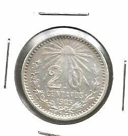 20 Cvs Plata Ley 0.800 Año De 1905