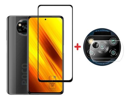Vidrio Templado Xiaomi Poco X3 + Templado Camara Trasera