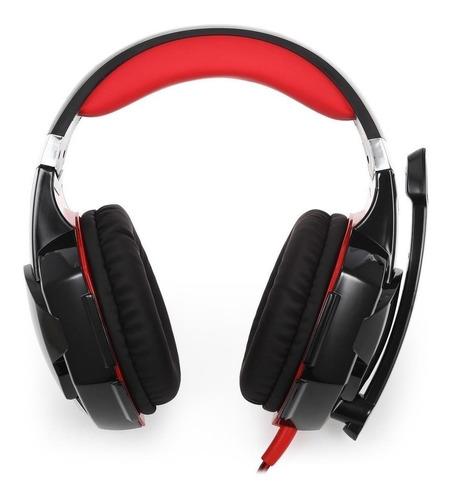 Audífonos Gamer Kotion G2000 Black, Red Y Led Light - Ecart