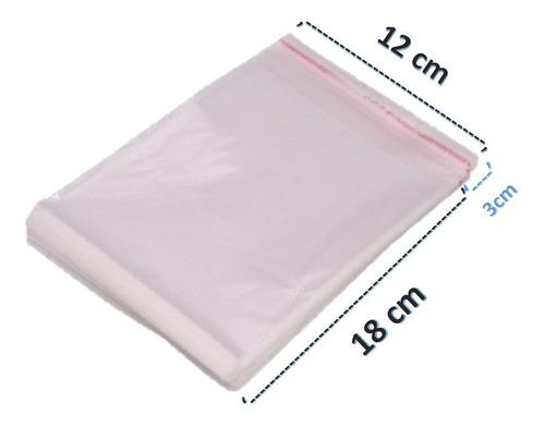 Saco Adesivado Saquinho Plástico Transparente 12x18 100 Unid