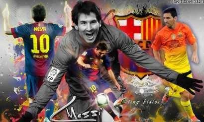 Lionel Messi - Fútbol - Barcelona España - Lámina 45x30 Cm.