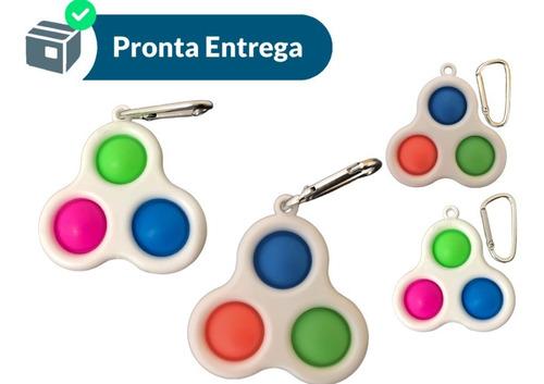 Pop It Fidget Chaveiro Empurre Bolha Autismo Anti-stress
