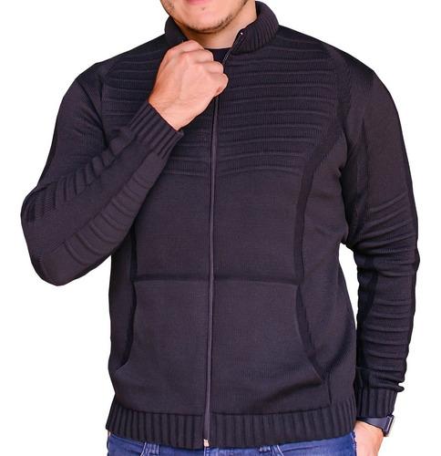 Blusão Masculino De Frio Com Ziper Gola Alta Inverno Luxo
