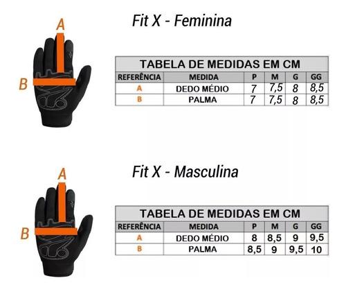 Luva X11 Fit Motociclista Masculina E Feminina X11 Fit Top
