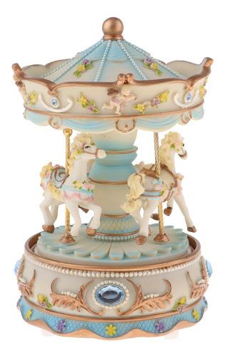 Artesanal Rotativa Carrossel Caixa De Música Brinquedos