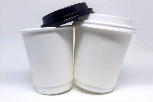 Copo Papel Biodegradável Liso 240 Ml C/ Tampa 100 Un