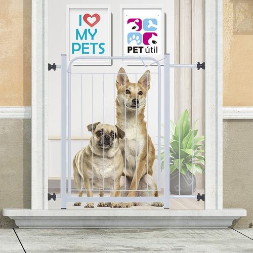 Grade Portão Proteção Pet Cachorro 69 A 84 Cm Criança Cães