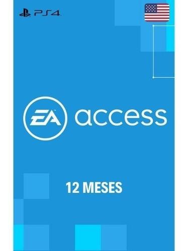 Ea Access Ps4 Usa Membresía 12 Meses- Código Digital