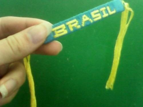 Pulseira Do Brasil. Artesanal. Frete Grátis