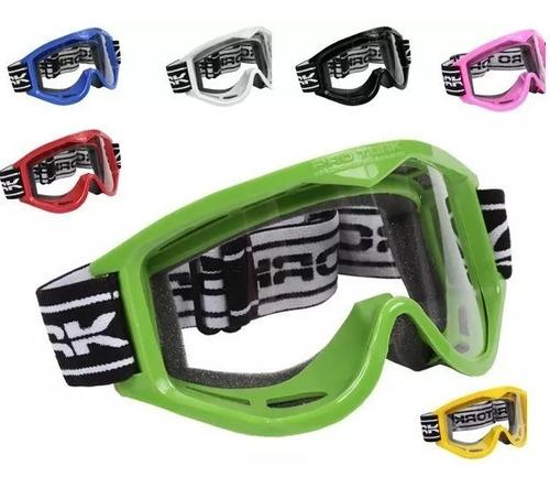 Oculos De Moto 788 Pro Tork Para Capacete Aberto Sem Viseira