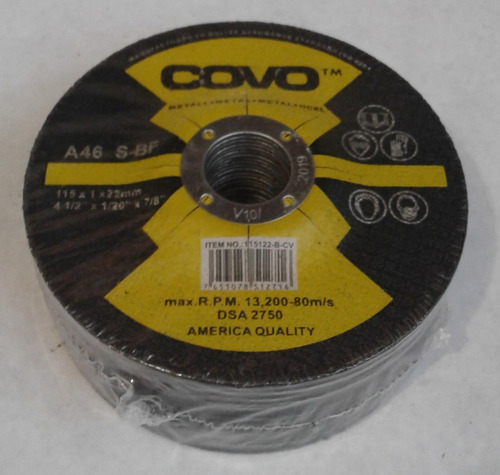 Disco P/cortar Metal 4 1/2 Covo Concavo