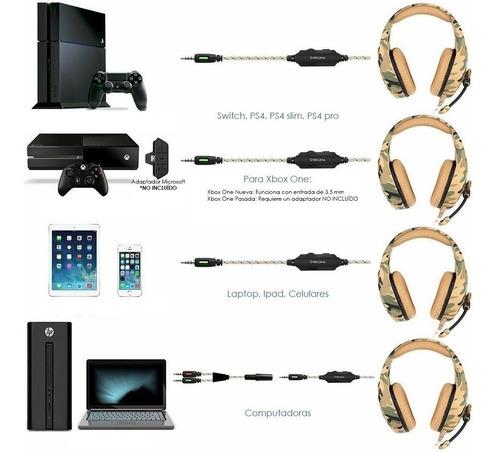 Audifonos Diadema Gamer Ps4 Xbox One S Jakc K1b 3.5mm Laptop - Ecart