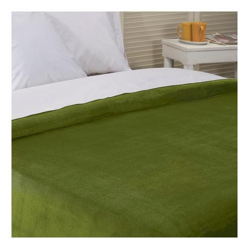 Frazada Danubio Flannel Queen Calla Green Lisa