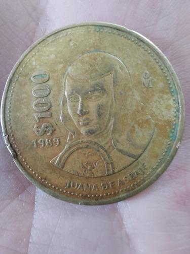 Juana De Asbaje 1989 Moneda Antigua $1000