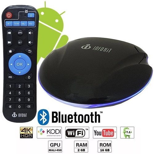 Tv Box Quad-core 2gb 16 Gb 4k / Hdmi / Wi-fi Bluetooth Andro