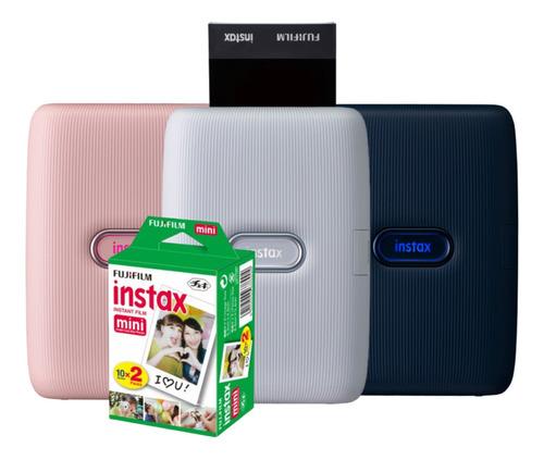 Impressora Instax Mini Link Smartphone + Filme De 20 Fotos