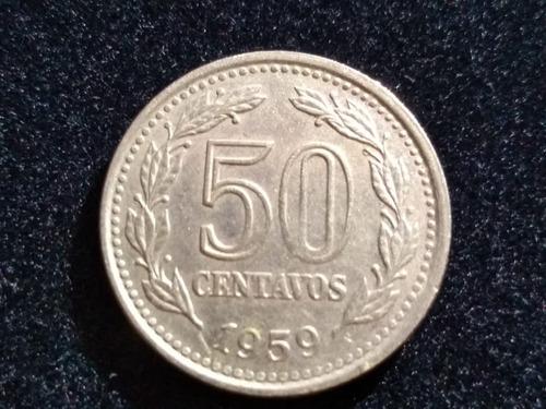 Moneda 50 Centavos 1959 Muy Bien Conservada Cod 3