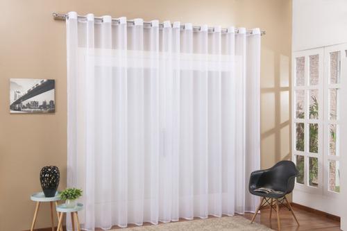Cortina Voil Transparente Para Sala Ou Quarto 3,00 X 2,50