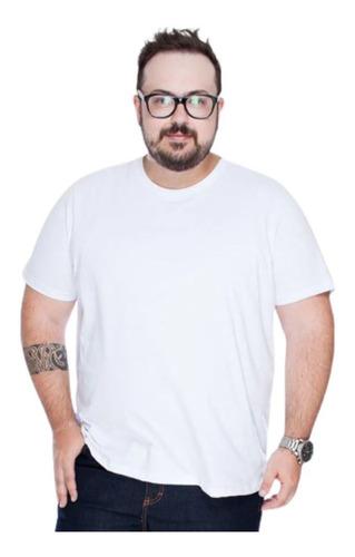 Camiseta Masculina Gola Redonda Algodão Plus Size