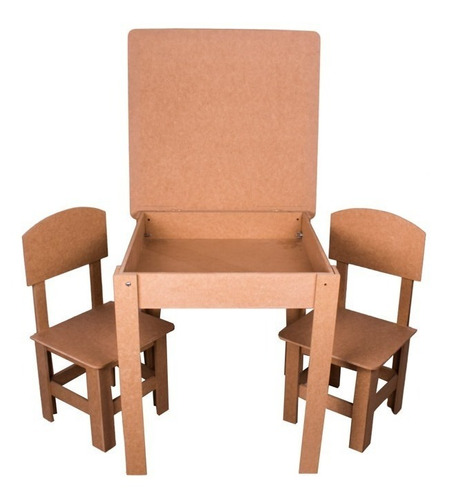 Mesinha Carteira Didática Criança Infantil + 2 Cadeiras