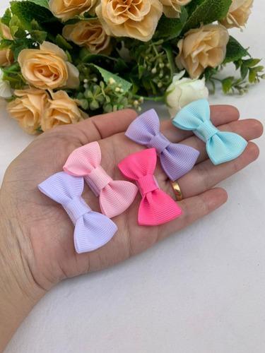 Kit 10 Mini Lacinhos Velcro Rn Bebê Delicado Maternidade