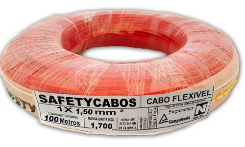 Fio Cabo Eletrico 1,5mm C/ 100mts Flexivel Colorido