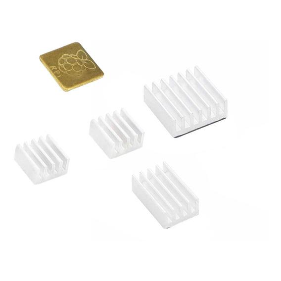 Disipadores Raspberry Aluminio Kit 5u Para Pi 4