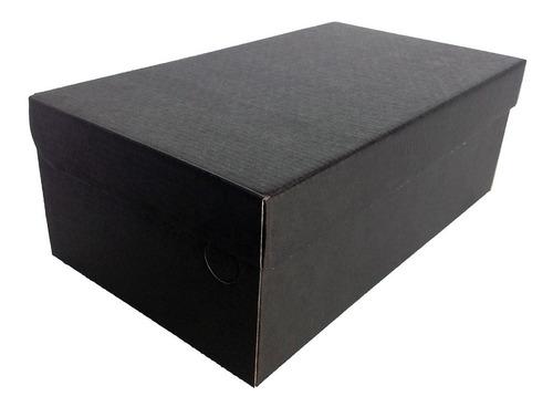 Caixa Para Sapatos Preto Fosco 33x19x12 - Pacote 50 Unidades