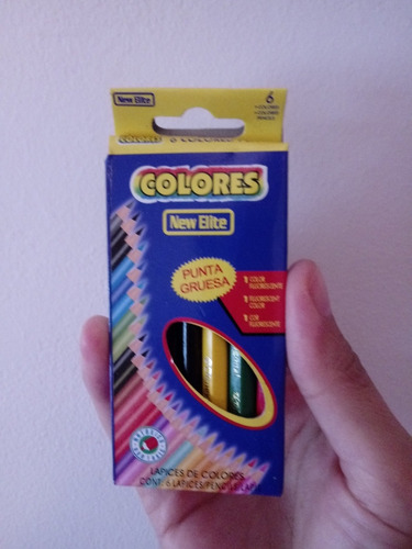 Lapices De Colores X 6 Unidades(cortos) 2 X 1