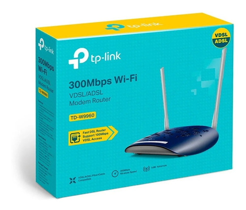 Moden Router Inalambrico Tp-link Td-w9960 300mbps 2 Ant Fact
