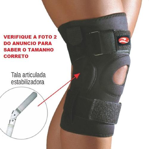 Joelheira Ortopedica Com Tala Articulada Neoprene Realtex
