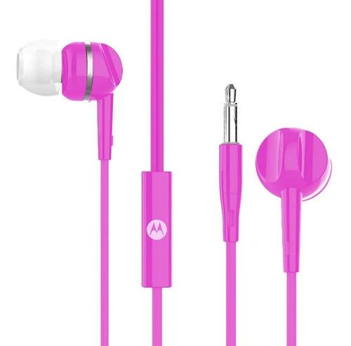 Fone De Ouvido Motorola Pace 105 Intra Auricular - Rosa