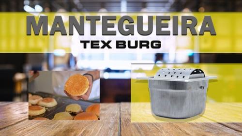 Mantegueira Profissional Hamburgueria - Seladora De Pão Inox