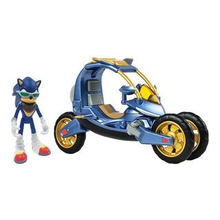 Sonic Boom Vehículo Fuerza Azul Con Figura Original