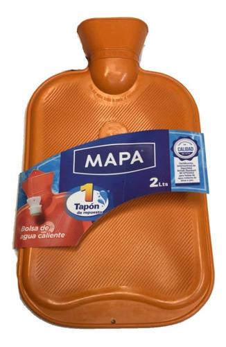 Bolsa Para Agua Caliente Mapa Clásica Con Tapon De Repuesto