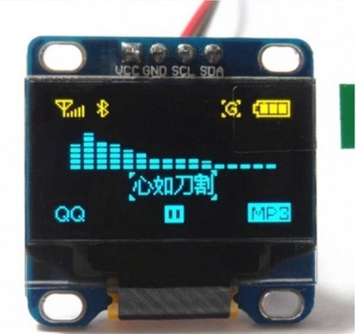 Display Pantalla Oled Lcd 128x64 Arduino I2c 0.96 Bi-color
