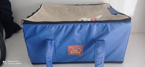 Bolsa De Transporte Aereo Aviao Azul Pro Canine 43x31,5x20cm
