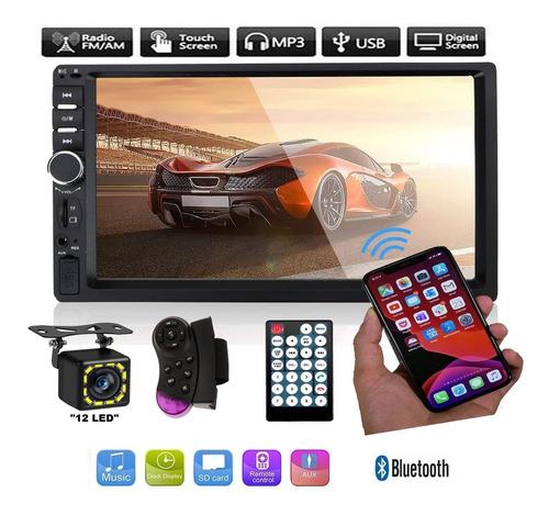 Estereo Pantalla Doble 2 Din Camara De Reversa Bluetooth Touch Auxiliar Memoria Sd Facil Instalacion