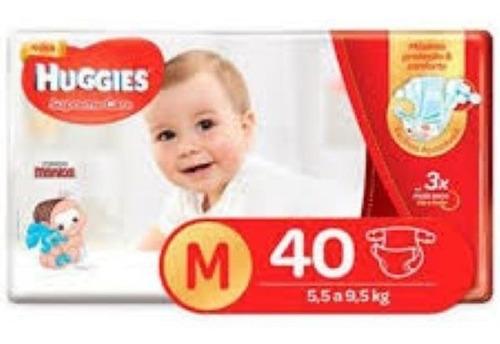 Fralda Huggies Turma Da Monica Supreme Care Mega M 40 Unidad