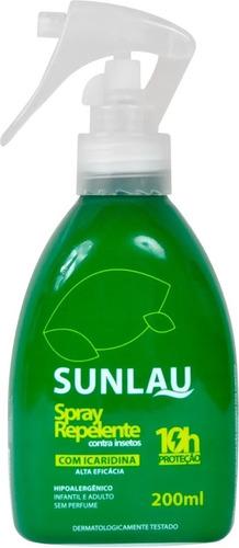 Repelente Sunlau Spray Icaridina Corpo, Roupa E Tecido 10h